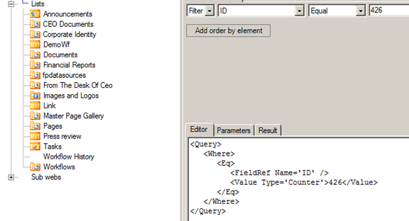 Web ceo report viewer parameters